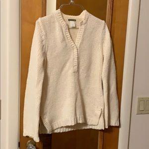 JCREW cream sweater. Perfect shape.